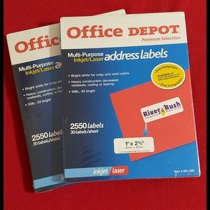 2 pkgs. Address Labels• inkjet/laser• NIB•